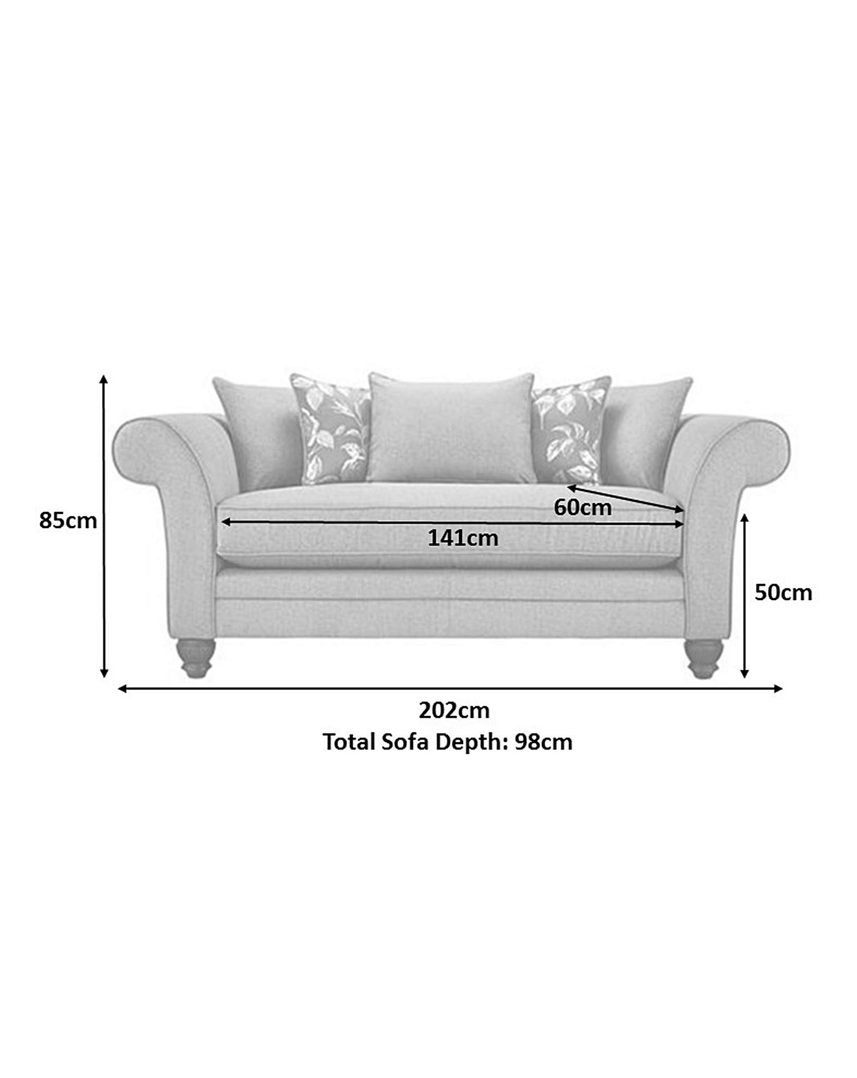 luxe 2 seat sofa slipcover modern legs dorchester seater home beauty gift shop