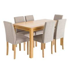Table And 6 Chairs Blue Resort By The Sea Oakham Rectangular Mia J D Williams