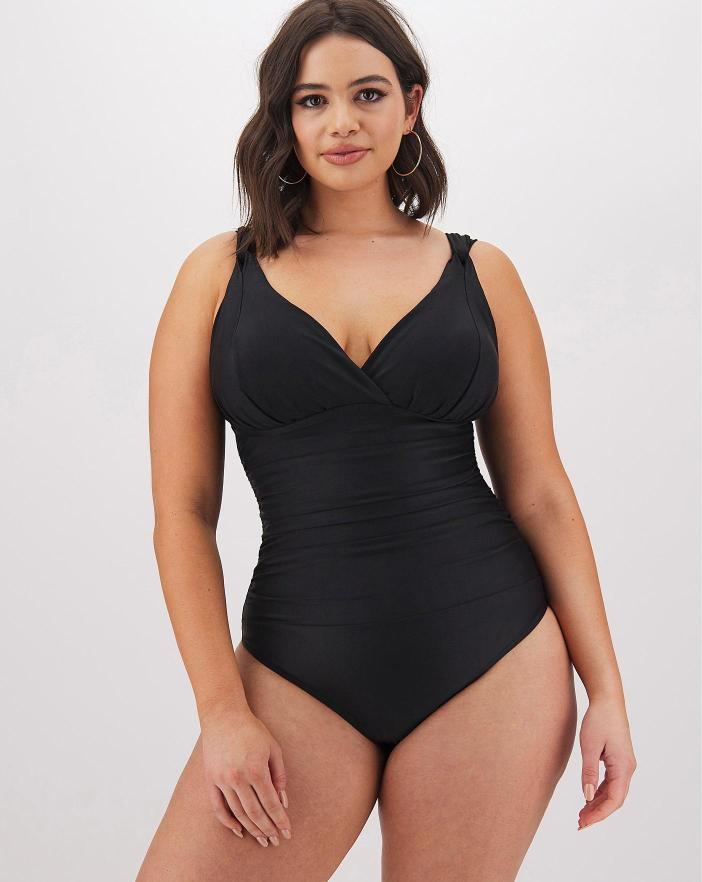 MAGISCULPT Black Lose Up To An Inch Shaping Swimsuit from Swimsuit