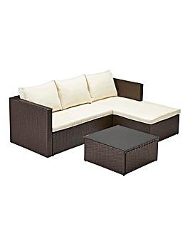 6pc milan modular rattan corner sofa set diy table behind couch outdoor garden furniture j d williams coniston