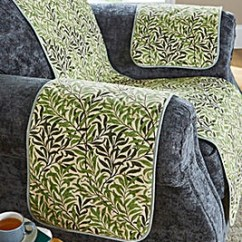 Guineys Dining Chair Covers Chairs For Shower Elderly Loose Sofa Sofas Fitted William Morris Willow Quilted Arm Slips
