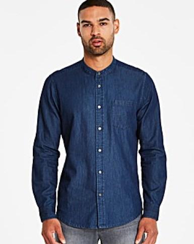 Jacamo Grandad Denim Shirt Regular