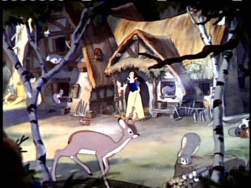 Animated Barbie Wallpaper Disney Females Images Snow White Cleans The Dwarfs House