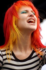 hayley's hair colors - paramore