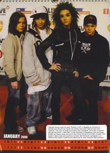 2008 Calendar - Tokio Hotel 10560748 Fanpop