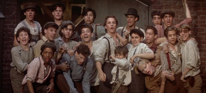 """A promotion still from the movie """"Newsies"""""""