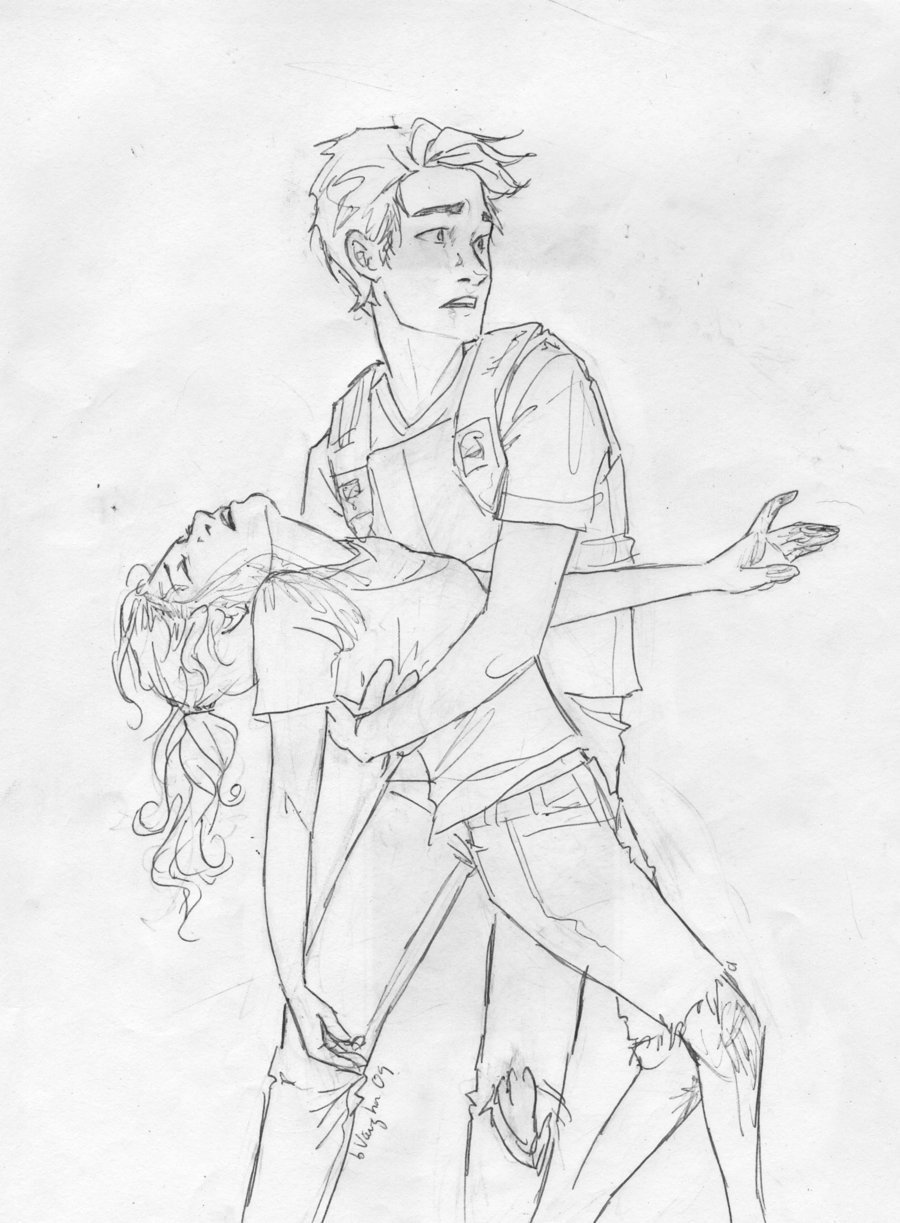 Drawings Boy His Holding Girl Arms