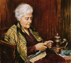 Image result for knitting grandma