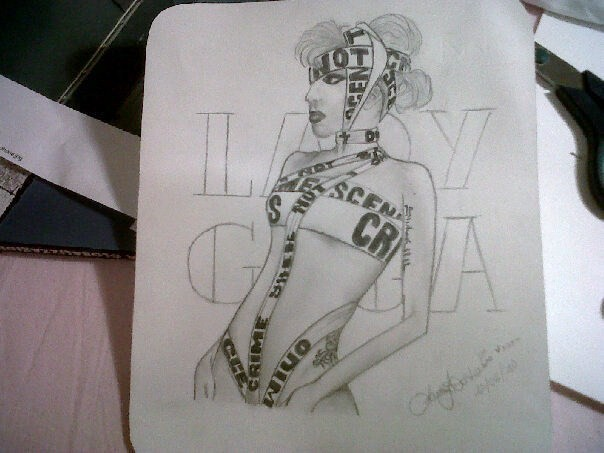 My drawing of Lady Gaga!