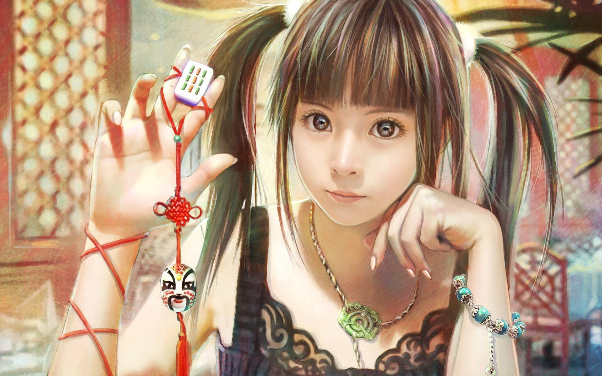 CG beautiful girl wallpaper by IChen Lin Taiwan  Fantasy Wallpaper