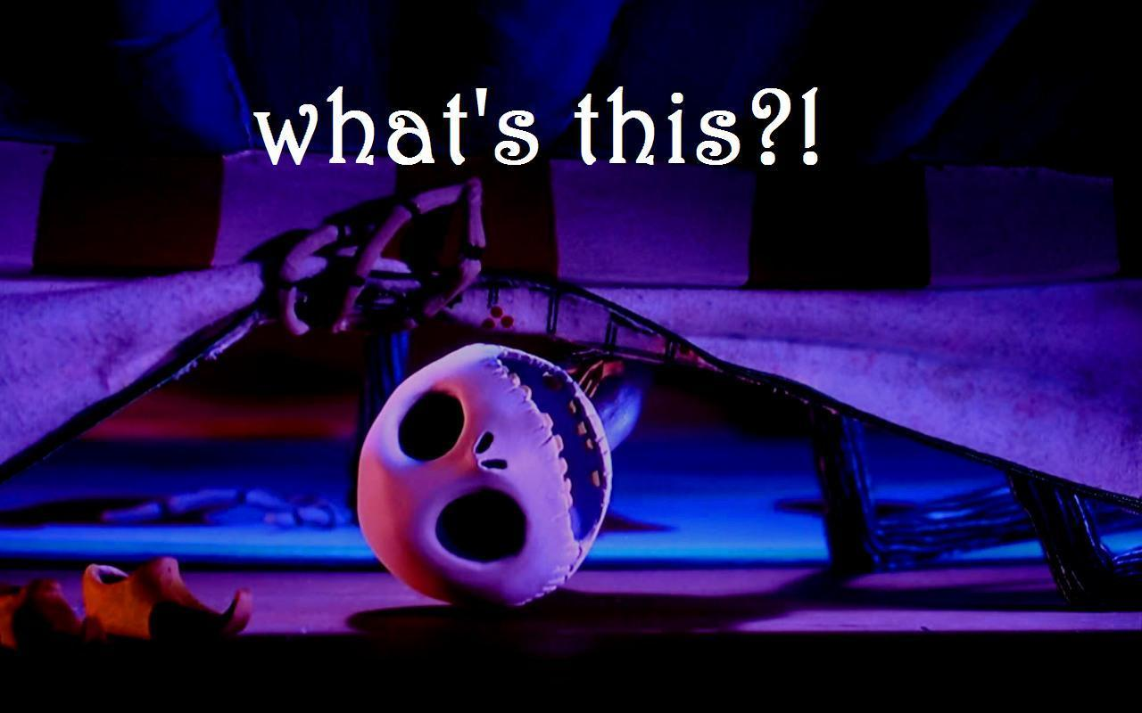 Jack from The Nightmare Before Christmas saying