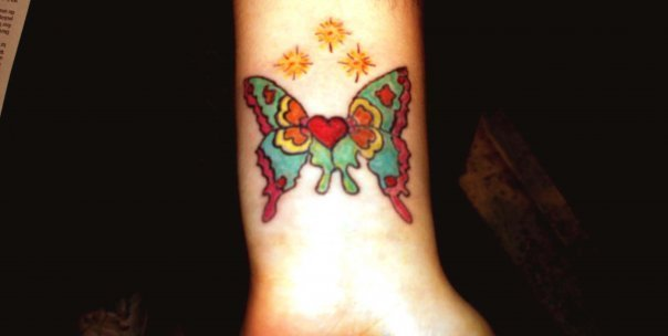 Butterfly/Heart/Stars - tattoos photo