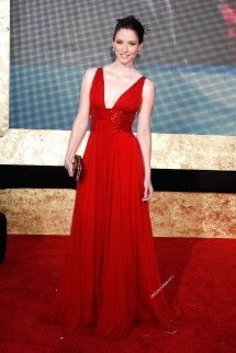 Chyler Leigh Red Dress
