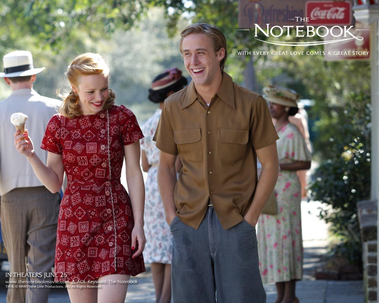 The Notebook vintage style: Ryan Gosling and Rachel McAdams