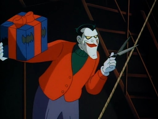 its christmas eve and even the inmates of arkham asylum are celebrating they sing jingle bells and set up decorations the joker is given the golden - Batman The Animated Series Christmas With The Joker