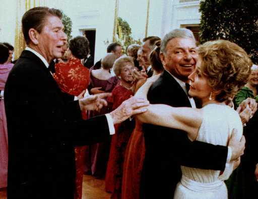 Image result for ron and nancy reagan with sinatra