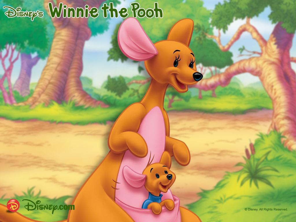 Roo and Kanga Cartoons Family