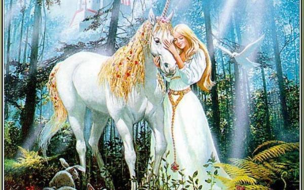 Princess with Unicorn