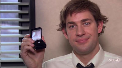 Image result for jim proposes to pam