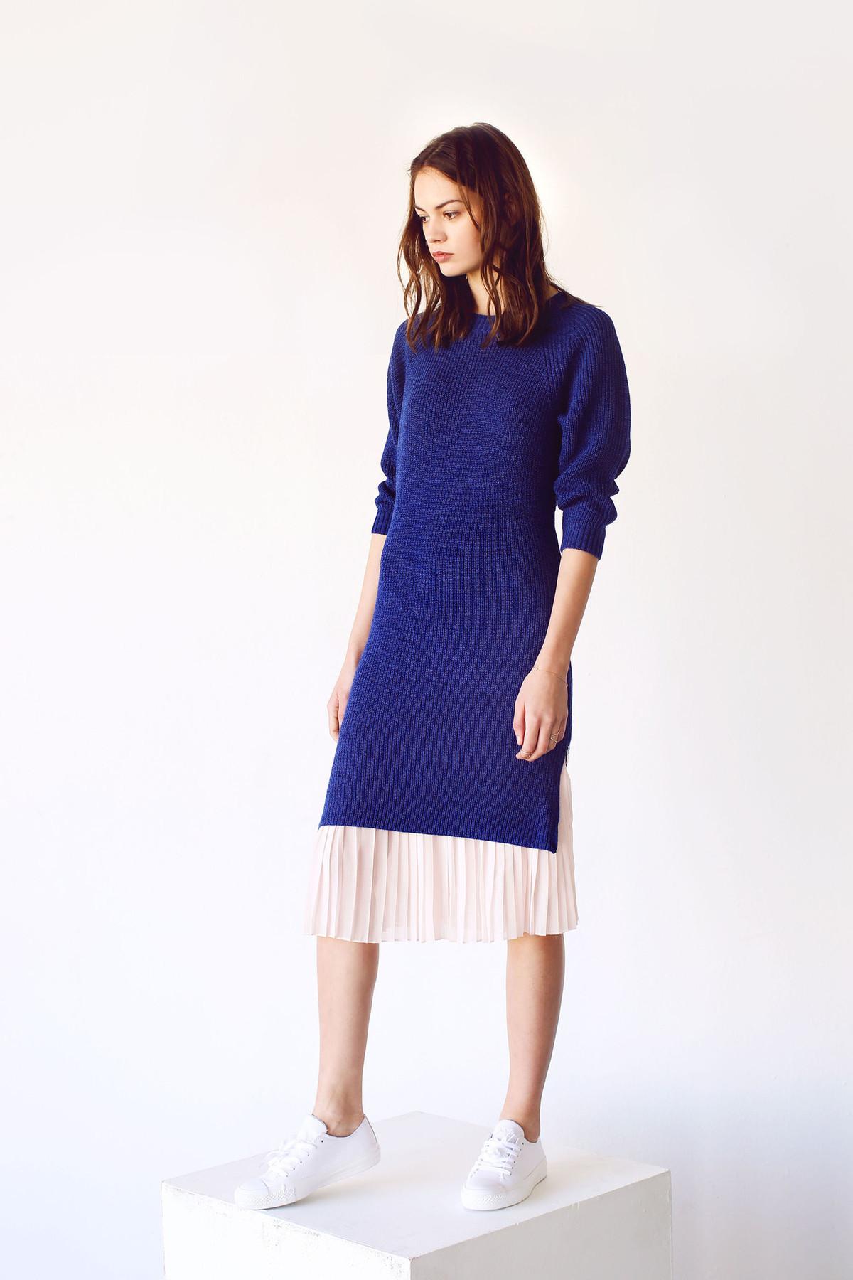 Cosette Cecilia Sweater Dress Royal Blue Garmentory