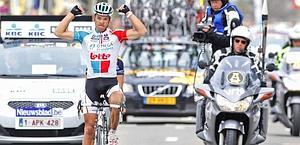 Philippe Gilbert, 28 anni, vince la Freccia del Brabante. Reuters