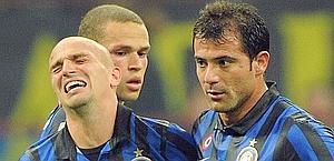 La delusione di Cambiasso, Castaignos e Stankovic. Ansa