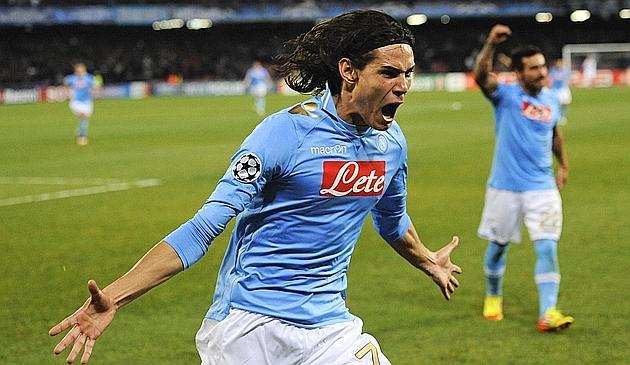 Edinson Cavani, 24 anni, attaccante del Napoli. Afp