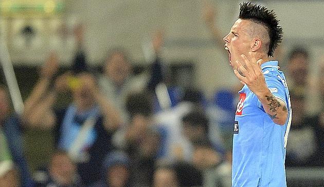 Lavezzi autore del raddoppio nella finale di Coppa Italia vinta dal Napoli