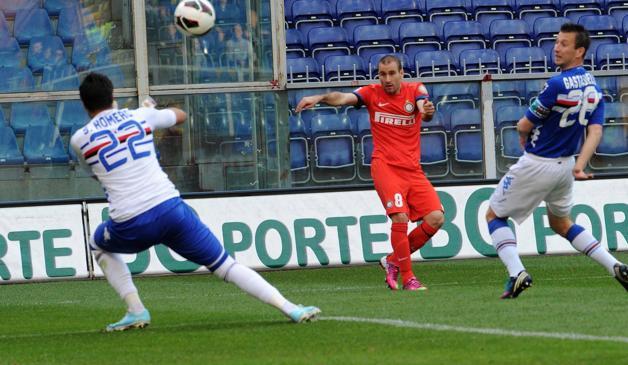 Palacio protagonista nel primo tempo di Samp-Inter