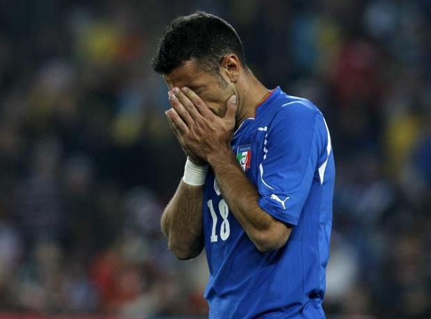La disperazione di Fabio Quagliarella, i suoi 45 minuti aumentano i rimpianti. (GazSport)