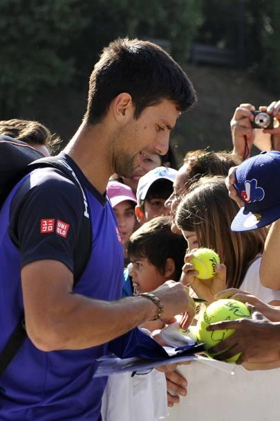 Djokovic bagno di folla a Roma  La Gazzetta dello Sport