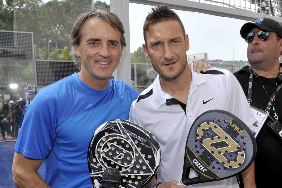Che doppio TottiMancini tennisti a Roma  La Gazzetta dello Sport