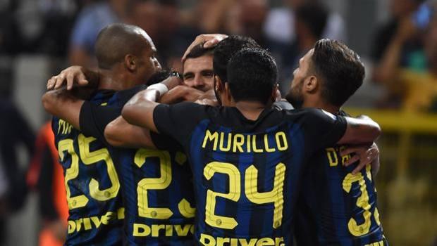 L'esultanza dell'Inter dopo il gol di Icardi. Getty