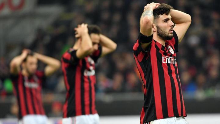 Cutrone disperato in Milan vs. Arsenal | numerosette.eu