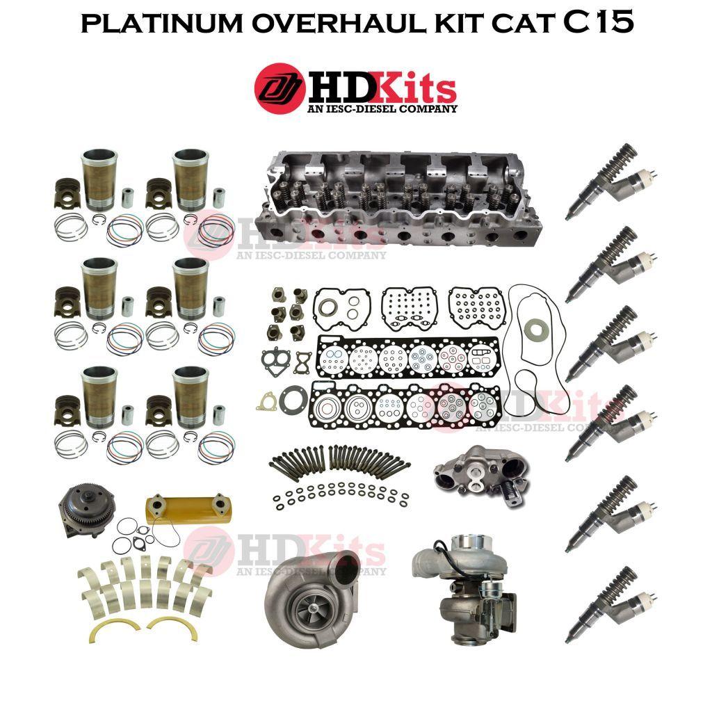platinum overhaul kit caterpillar c15 acert engine bxs mxs sdp