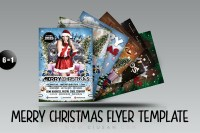 Merry Christmas Flyer Template Bundle