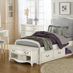 Hillsdale Kids And Teen Youth Kensington Katherine Upholstered Panel Twin Bed With Storage
