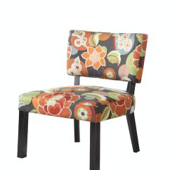 Bright Colored Accent Chairs Sofa Chair With Ottoman Powell Furniture Living Room Floral Print