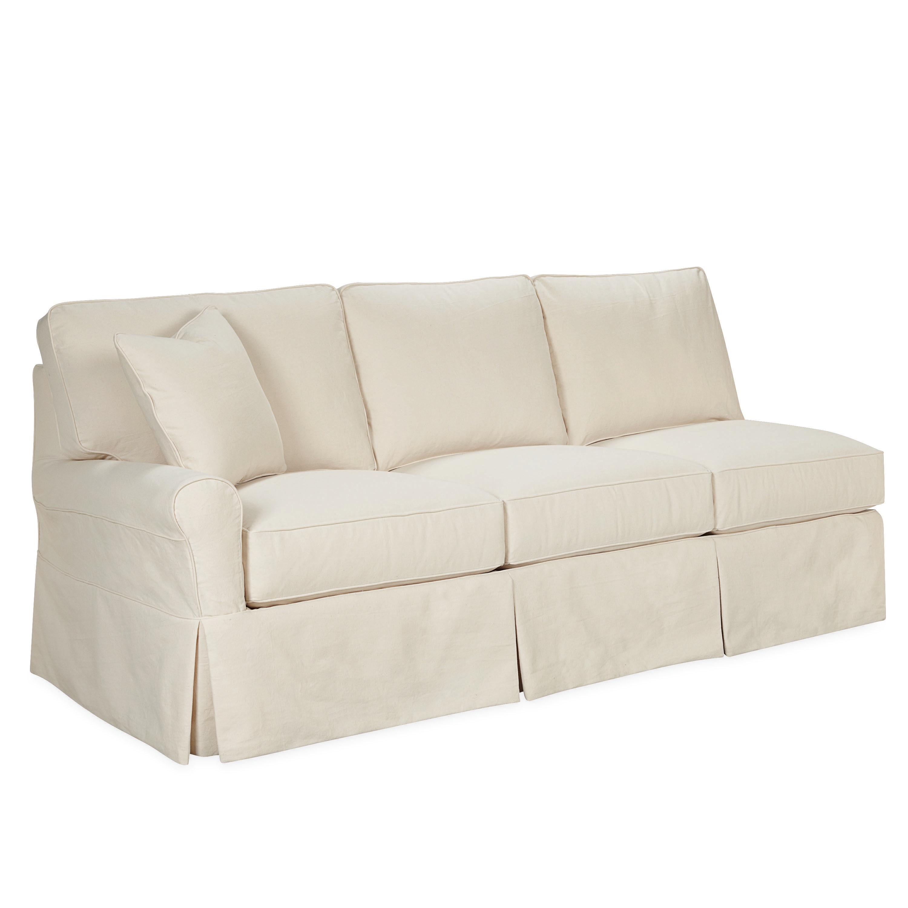 one arm sofa slipcover leather studded lee industries living room slipcovered queen sleeper c5632 29lf