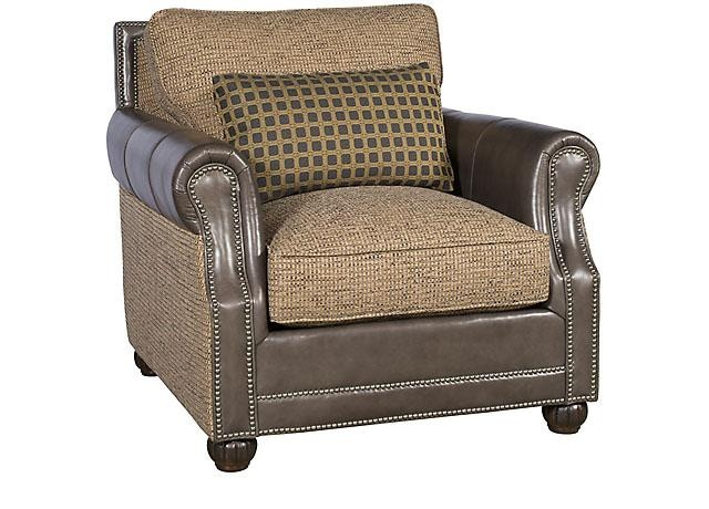 King Hickory Living Room Julianne Leather Fabric Companion Chair 3001LF  Bartlett Home
