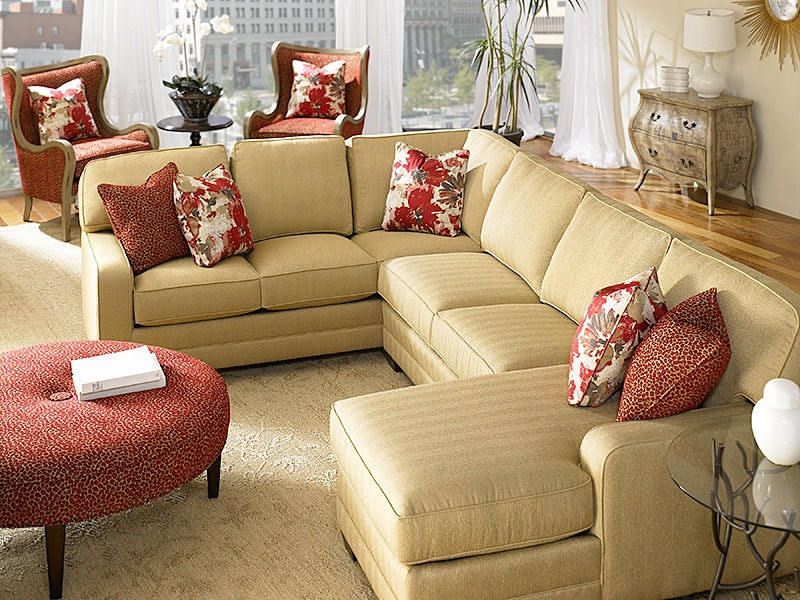bentley sofa by king hickory gold velvet bed left arm facing one with