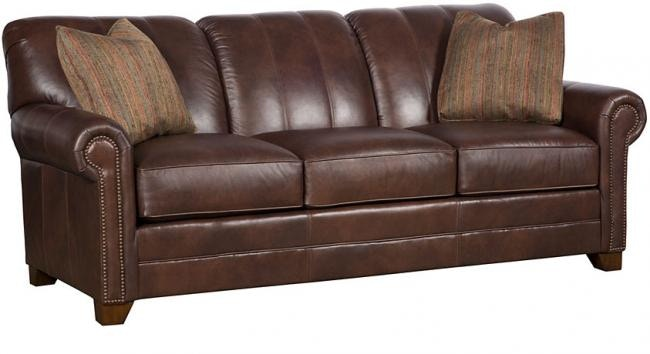 hickory chair leather couch swivel knoll king living room angelina sofa 3600 l
