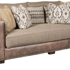 Leather And Fabric Sofa In Same Room Flip Out King Hickory Living Pacific 5000