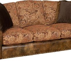 Leather And Fabric Sofa In Same Room Lee Industries Slipcovers King Hickory Living Helen 56150