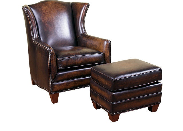 king hickory chair leather barrel living room athens 5771d b f myers