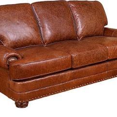 Hickory Chair Leather Couch Charlotte Perriand King Living Room Edward Sofa 58100 L