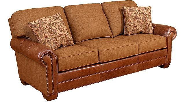 Chair King San Antonio King Hickory Living Room Candice Leather Fabric Sofa 58650