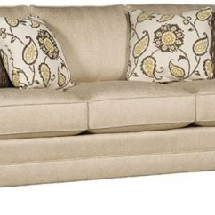 King Hickory Sofa Winston Contemporary Grey Leather Living Room Fabric With Sock Arm
