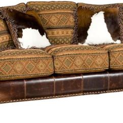 Hickory Chair Leather Couch Sunbrella Lounge Replacement Cushions King Living Room Santana Sofa 8000 Lf
