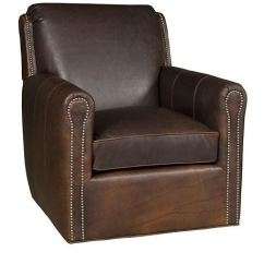 Swivel Chair King Living Swing With Stand Canada Hickory Room Austin Leather C31